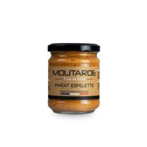 Moutarde fine et forte au piment d'Espelette