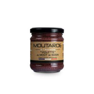 Moutarde violette à l'ancienne au moût de raisin