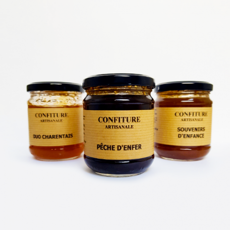 Confiture pêche d'enfer - La Moutarderie Charentaise