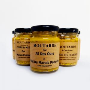 Moutarde fine ail des ours et miel - La Moutarderie confiserie