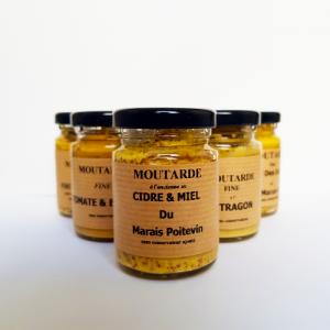 Moutarde cidre et miel - La Moutarderie confiserie