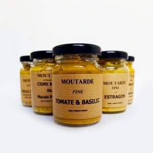 Moutarde fine tomate basilic - La Moutarderie confiserie