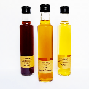 Vinaigre de cidre au miel du Poitou-Charentes - La Moutarderie confiserie de Nouvelle-Aquitaine